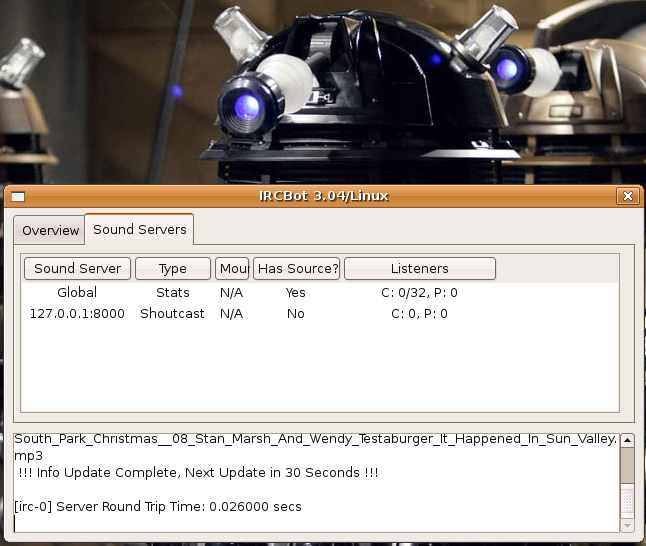 Yes, even Dalek Sec loves IRCBot!